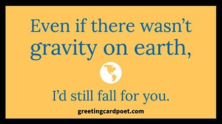 Funny pick up line about gravity image