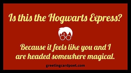 best pick up lines Harry Potter theme image