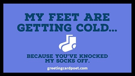 you have knocked my socks off image