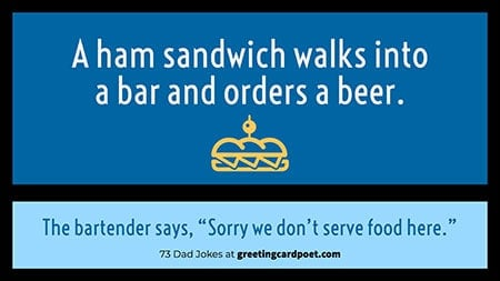 we don't serve food joke image