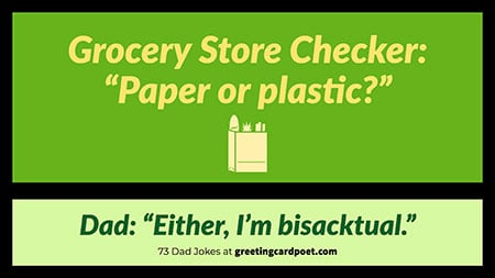 paper or plastic gag image