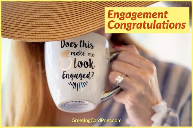Engagement congratulations image