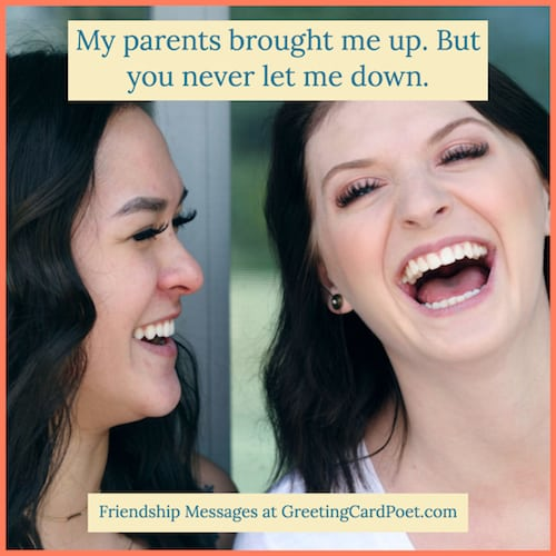 Funny friendship messages image