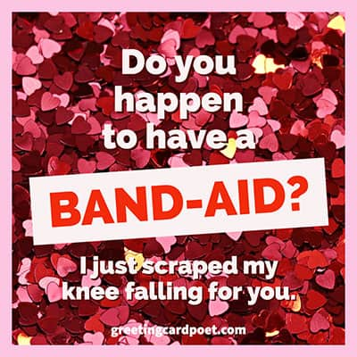 Band-aid pick up line image