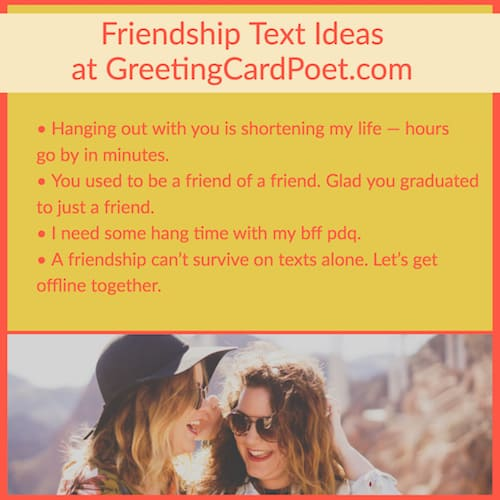 friendship text ideas image