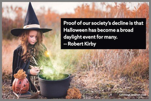 Daylight celebration of Halloween quote image