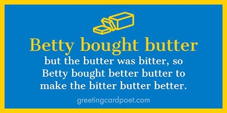 Betty bought butter image
