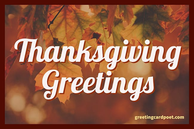 Thanksgiving greetings image