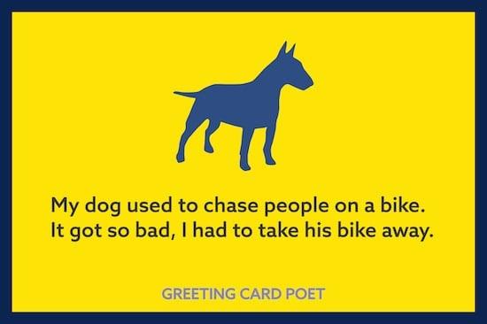 dad joke about a dog image
