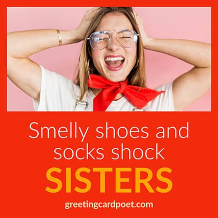 Smelly shoes and socks shock sisters image