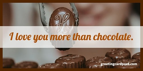 love you more than chocolate meme
