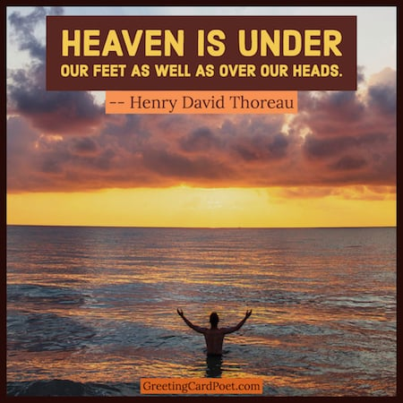 Heaven is under our feet quotation image