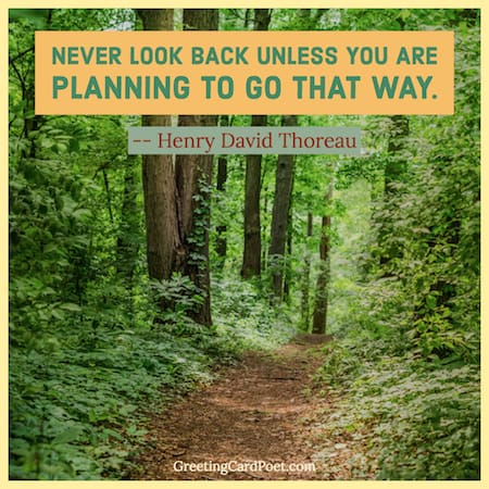 Never Look Back Thoreau quote image