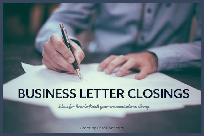 Business letter closing ideas image