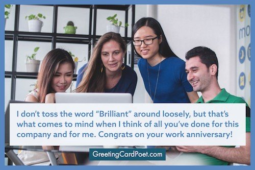 Congratulations on work anniversary messages meme