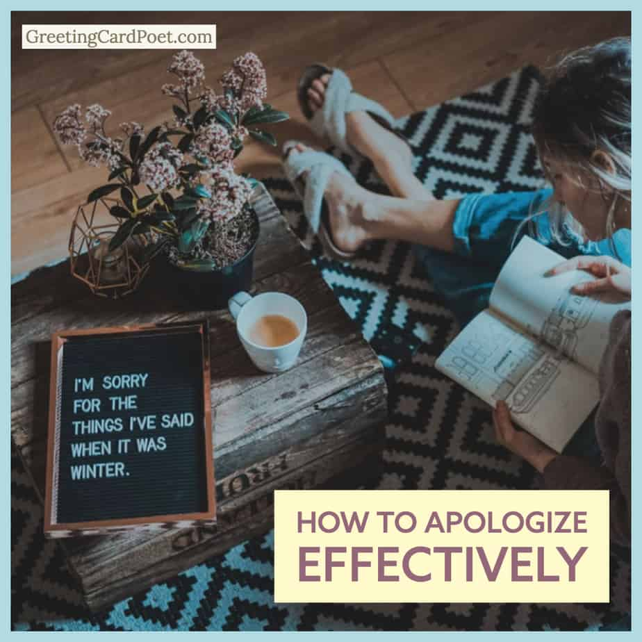 How to apologize effectively image