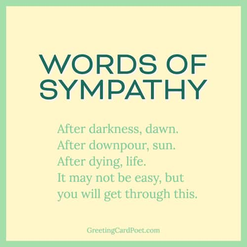 Best words of sympathy messages image