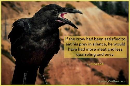 Crow quote meme