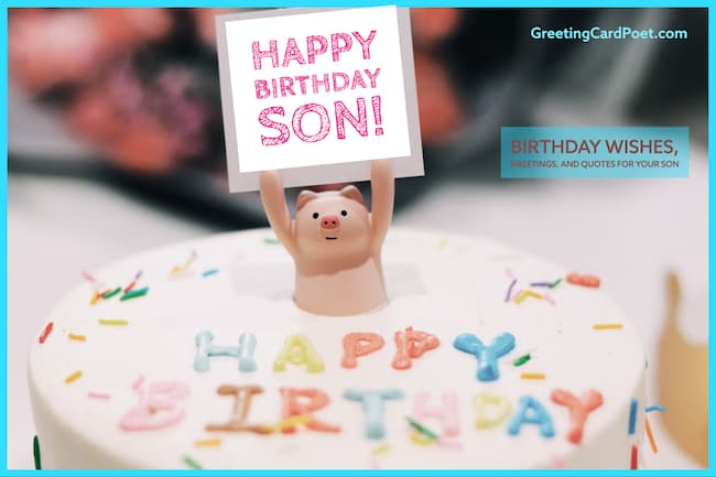 Cool 73 Happy Birthday Son Messages To Celebrate In Style Personalised Birthday Cards Paralily Jamesorg