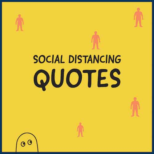 Social distancing quotes image