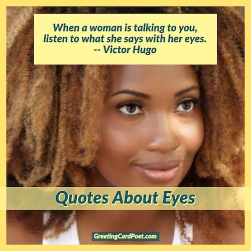 Victor Hugo quote on eyes image