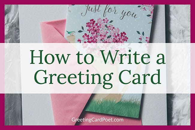 how to write a card image
