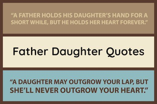 Best Father Daughter Quotes image