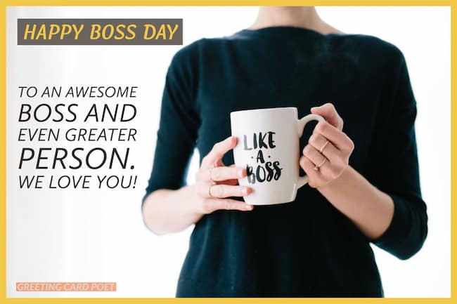 Best Happy Boss Day Messages image