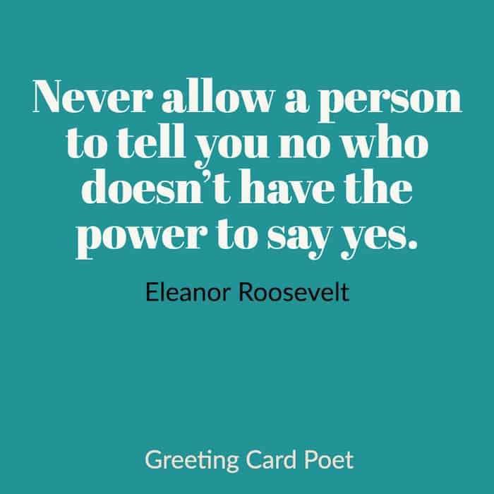 Eleanor Roosevelt saying image