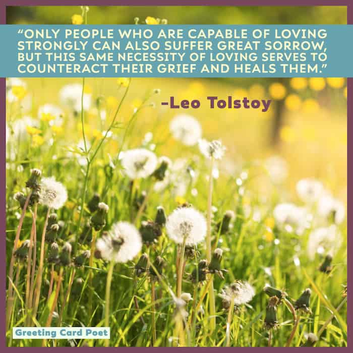 Great sorrow saying from Tolstoy image