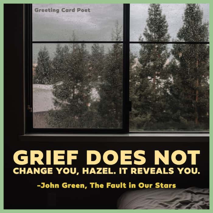 Grief reveals you saying image