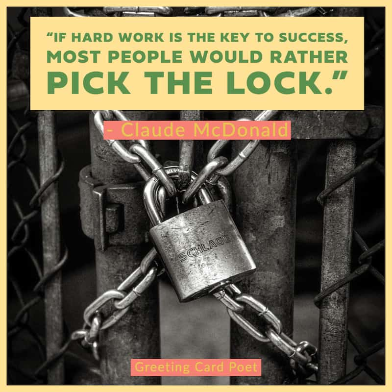 Hard work is the key to success image