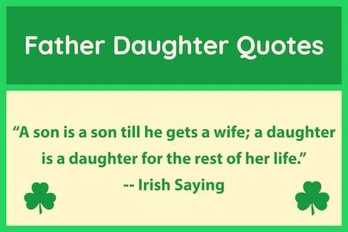 Irish saying father daughter quotes image