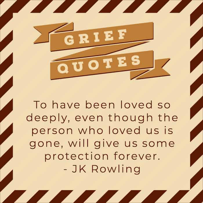 JK Rowling quote on grief image