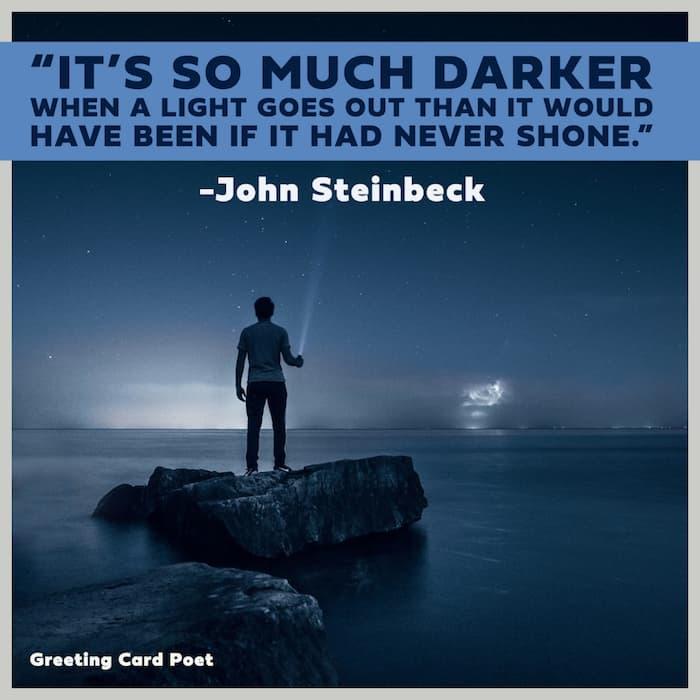 John Steinbeck on sorrow image