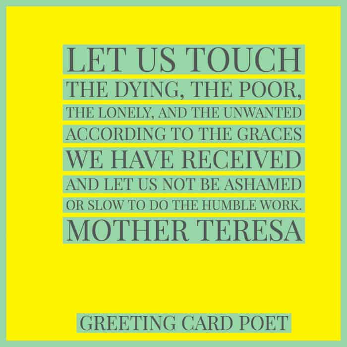 Mother Teresa quotation image