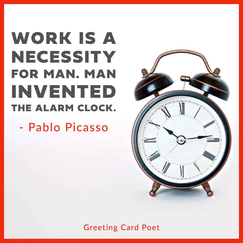 Pablo Picasso funny office quotation image