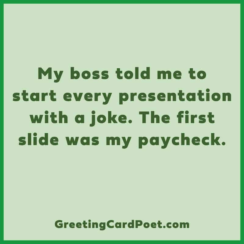 Paycheck is a joke image