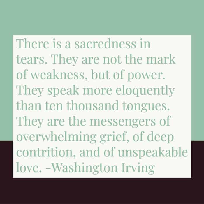 Sacredness in tears image