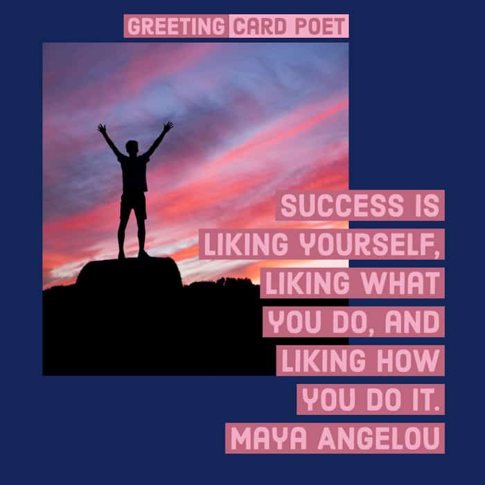 Success is liking yourself image