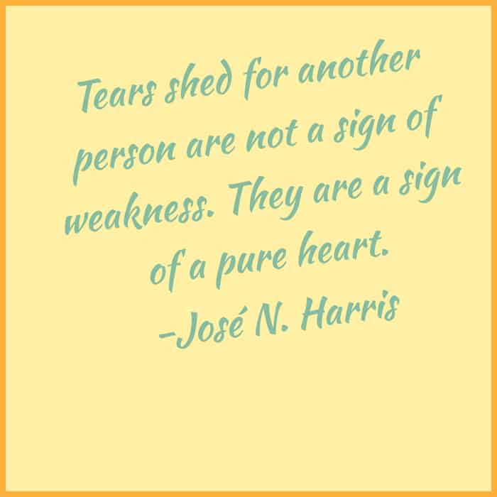 Tears are a sign of a pure heart image