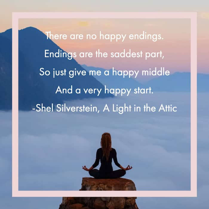 There are no happy endings quote image