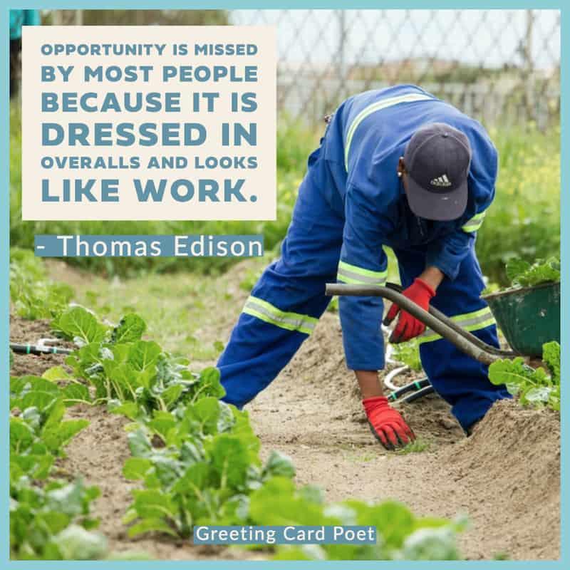 Thomas Edison Quote on hard work image