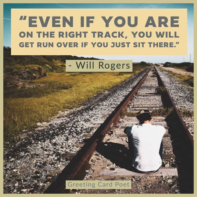 Will Rogers saying on moving forward image