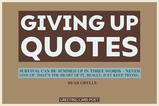 quotes on giving up image