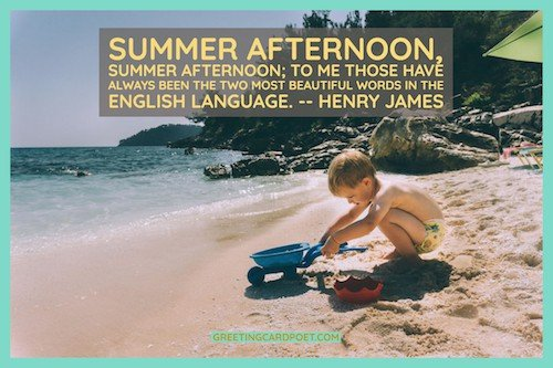 summer afternoon quote by Henry James image