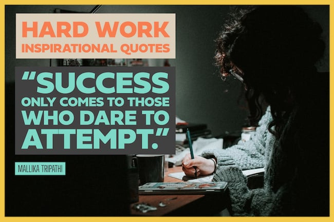 Best hard work inspirational quotes image