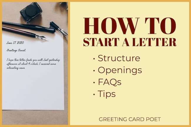 How to start a letter image