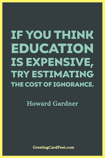 If you think education is expensive image