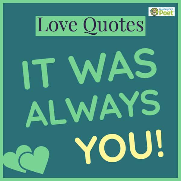 It was always you deep love quotes image